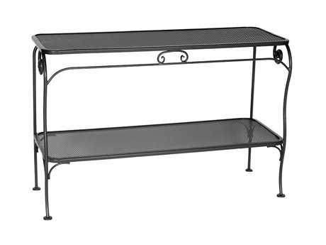 OW Lee Micro Mesh Wrought Iron 48 x 18 Rectangular Console Table