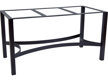 OW Lee Palazzo Wrought Iron Dining Table Rectangular Base