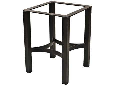 OW Lee Palazzo Wrought Iron End Table Square Base