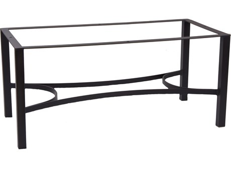 OW Lee Palazzo Wrought Iron Coffee Table Rectangular Base