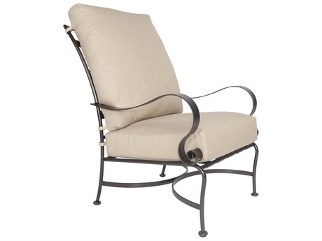 OW Lee Marquette Wrought Iron Hi-Back Lounge Chair