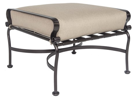 OW Lee Marquette Wrought Iron Ottoman