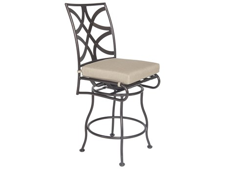 OW Lee Marquette Wrought Iron Armless Swivel Counter Stool