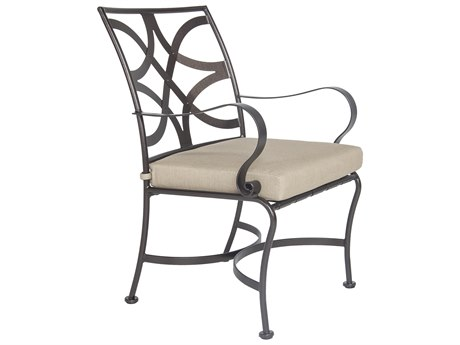 OW Lee Marquette Wrought Iron Dining Arm Chair