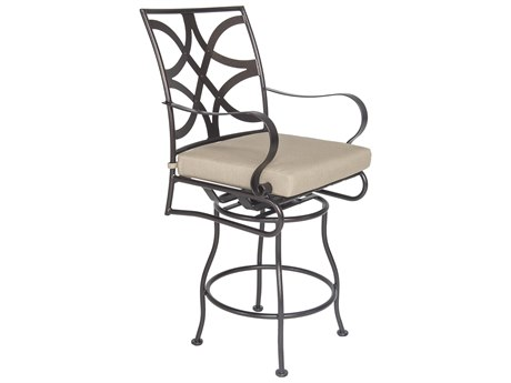 OW Lee Marquette Wrought Iron Swivel Counter Stool