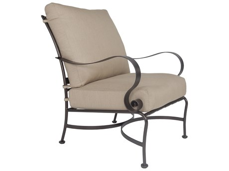 OW Lee Marquette Wrought Iron Club Chair