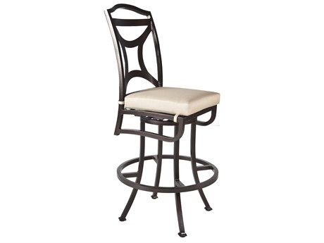 OW Lee Madison Aluminum Armless Swivel Bar Stool