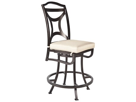 OW Lee Madison Aluminum Armless Swivel Counter Stool
