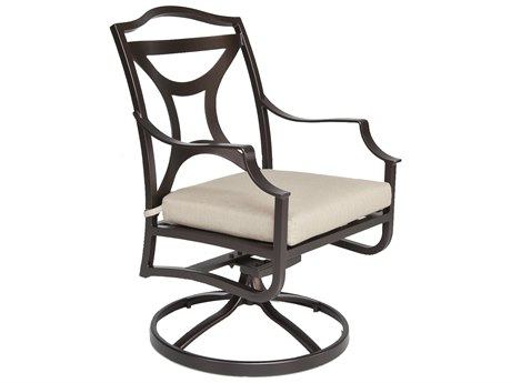 OW Lee Madison Aluminum Swivel Rocker Dining Arm Chair