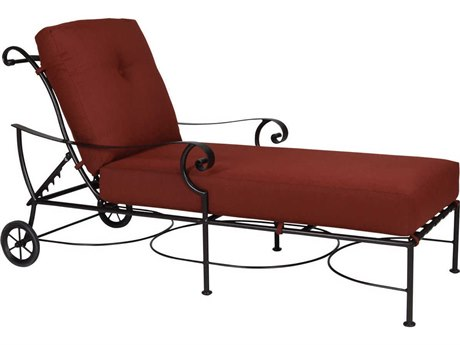 OW Lee St. Charles Wrought Iron Adjustable Chaise