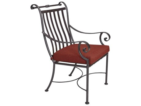 OW Lee St. Charles Wrought Iron Dining Arm Chair