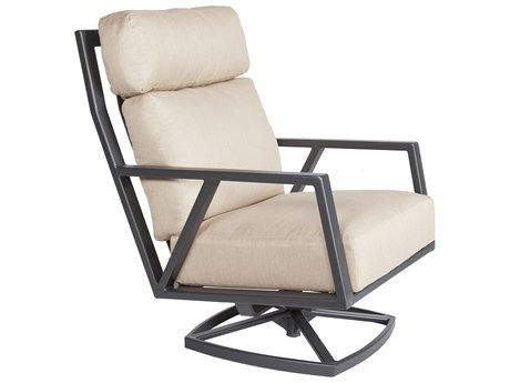 OW Lee Aris Aluminum Swivel Rocker Lounge Chair