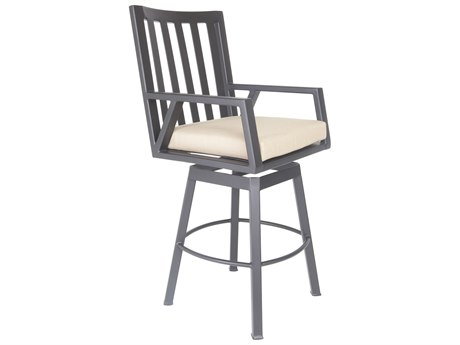OW Lee Aris Aluminum Swivel Bar Stool