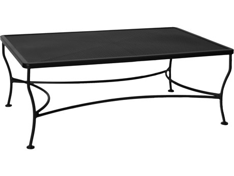 OW Lee Micro Mesh Wrought Iron 48 x 30 Rectangular Coffee Table