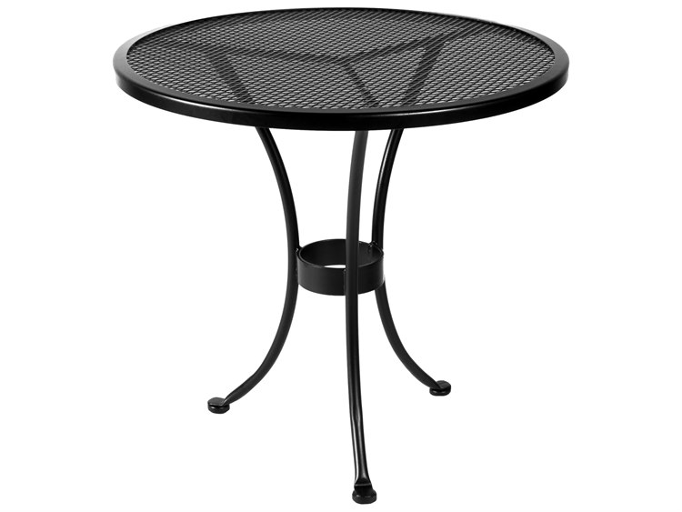 OW Lee Micro Mesh Wrought Iron Round 30 Dining Table PatioLiving