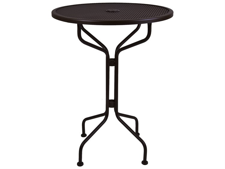 OW Lee Micro Mesh Wrought Iron 30 Round Bar Table