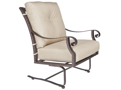 OW Lee Luna Wrought Iron Spring Base Lounge Chair