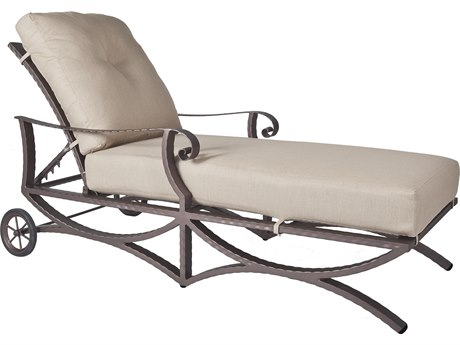 OW Lee Luna Wrought Iron Adjustable Chaise