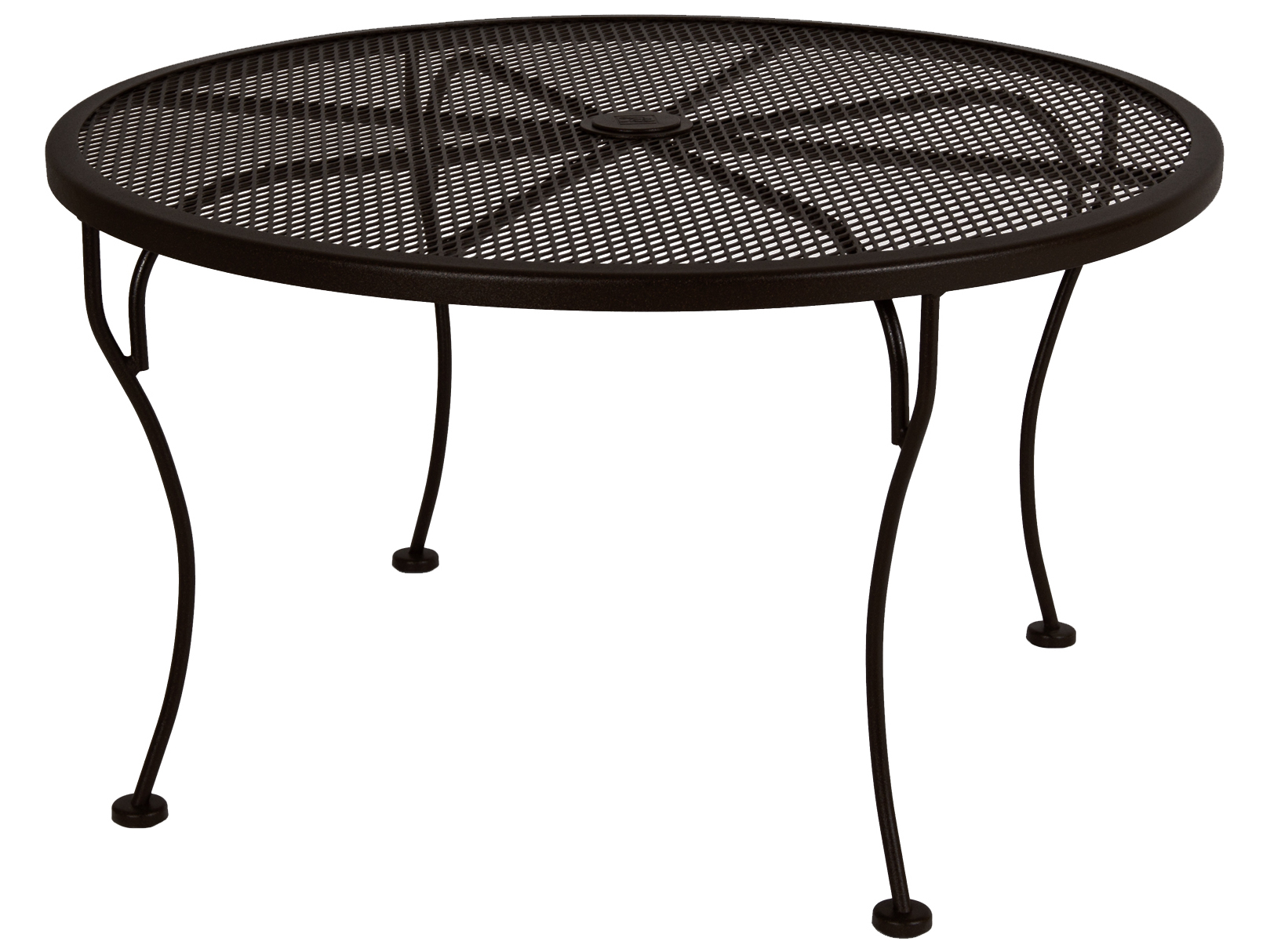 Ow Lee Micro Mesh Wrought Iron 36 Round Side Table With