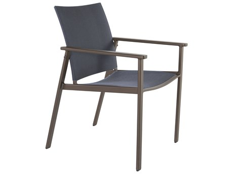 OW Lee Marin Aluminum Flex Comfort Dining Arm Chair