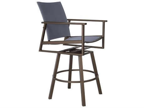 OW Lee Marin Aluminum Flex Comfort Swivel Rocker Counter Stool