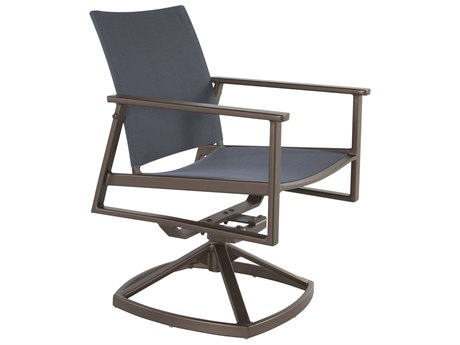 OW Lee Marin Aluminum Flex Comfort Swivel Rocker Dining Arm Chair