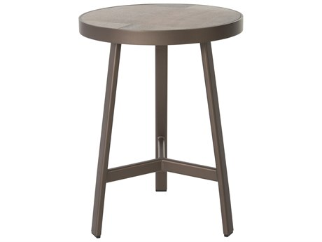 OW Lee Marin Aluminum 18''Wide Round Lamp Table