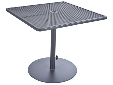 OW Lee Lennox Steel 34 Square Pedestal Dining Table