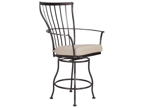 OW Lee Monterra Wrought Iron Swivel Counter Arm Stool OW404SCS
