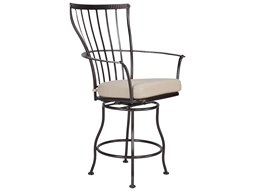 OW Lee Monterra Wrought Iron Swivel Counter Arm Stool
