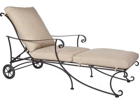 OW Lee Bellini Wrought Iron Adjustable Chaise Lounge