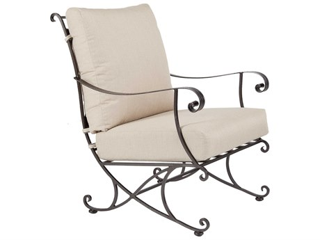 OW Lee Bellini Wrought Iron Lounge Chair