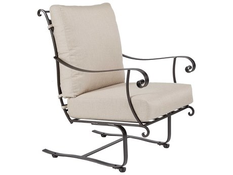 OW Lee Bellini Wrought Iron Spring Base Lounge Chair