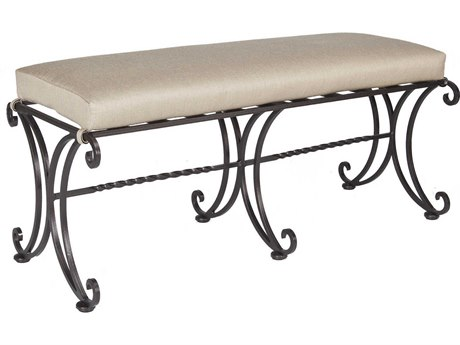 OW Lee Bellini Wrought Iron Dining Bench