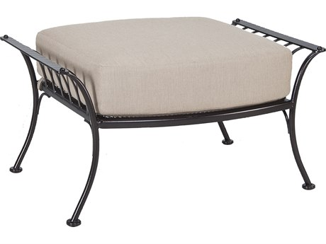 Charming OW Lee Monterra Wrought Iron Ottoman