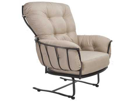 OW Lee Monterra Wrought Iron Spring Base Club Chair