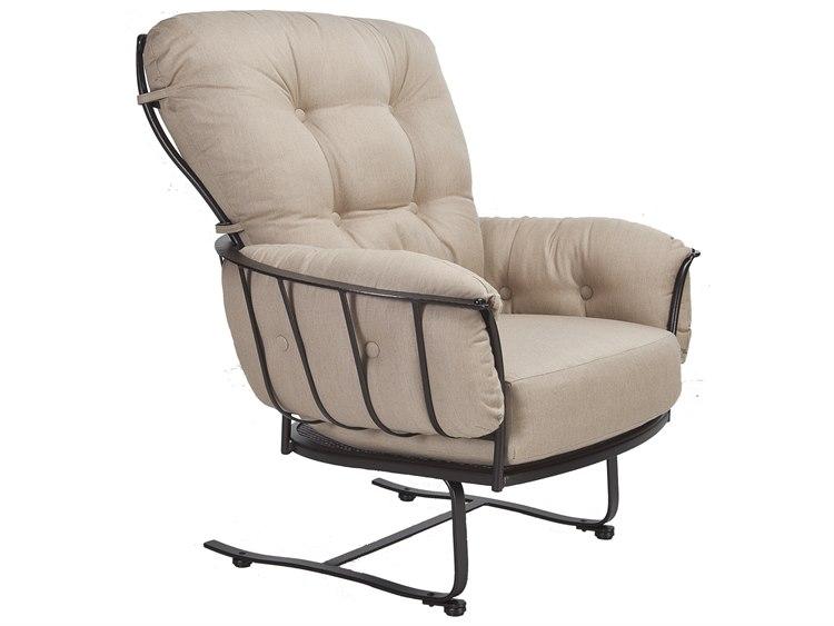 OW Lee Monterra Wrought Iron Spring Base Club Chair