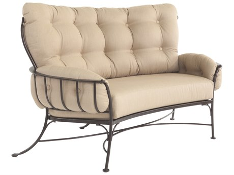 OW Lee Monterra Wrought Iron Mini Crescent loveseat