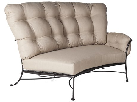 OW Lee Monterra Wrought Iron Sectional Left Lounge Chair