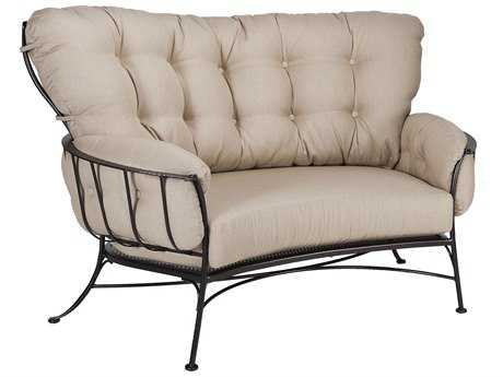 OW Lee Monterra Wrought Iron Two Seat Cuddle Chair