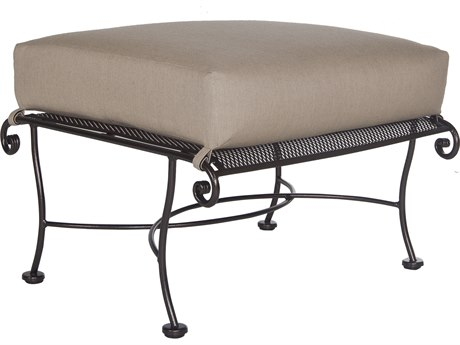 OW Lee Avalon Wrought Iron Ottoman