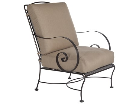 OW Lee Avalon Wrought Iron Lounge Chair