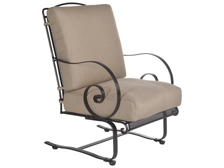 OW Lee Avalon Wrought Iron Spring Lounge Chair