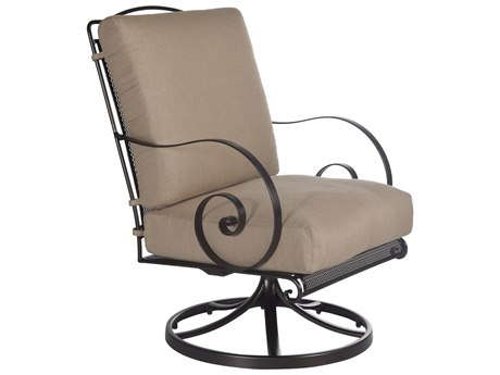 OW Lee Avalon Wrought Iron Swivel Rocker Lounge Chair