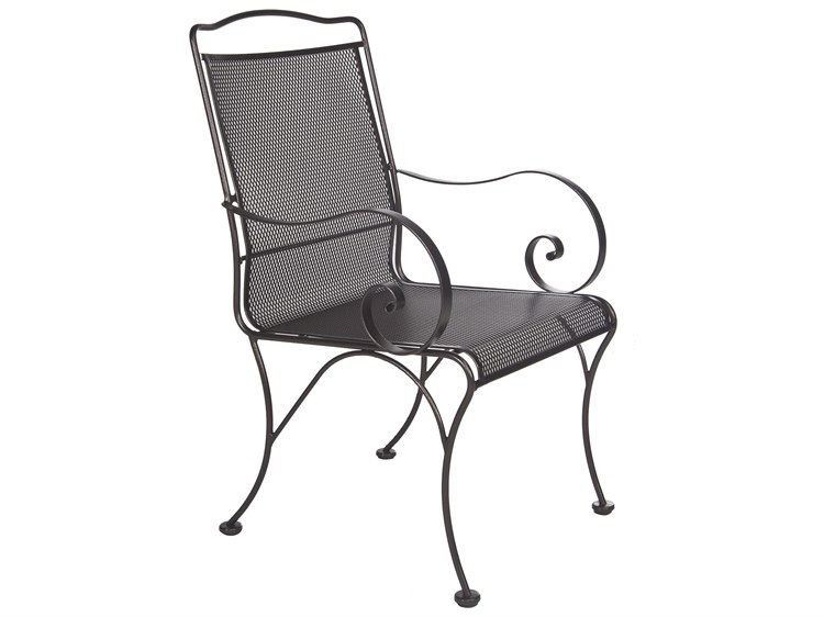 OW Lee Avalon Wrought Iron Dining Chair PatioLiving