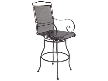 OW Lee Avalon Wrought Iron Swivel Bar Stool