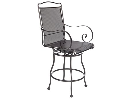 OW Lee Avalon Wrought Iron Swivel Counter Stool