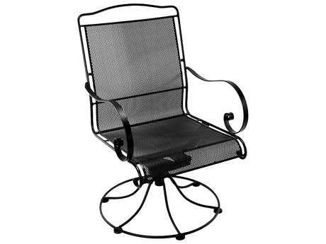 OW Lee Avalon Wrought Iron Swivel Rocker Dining Chair