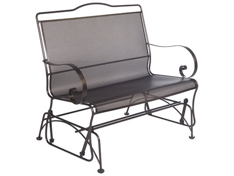 OW Lee Avalon Wrought Iron Glider Loveseat
