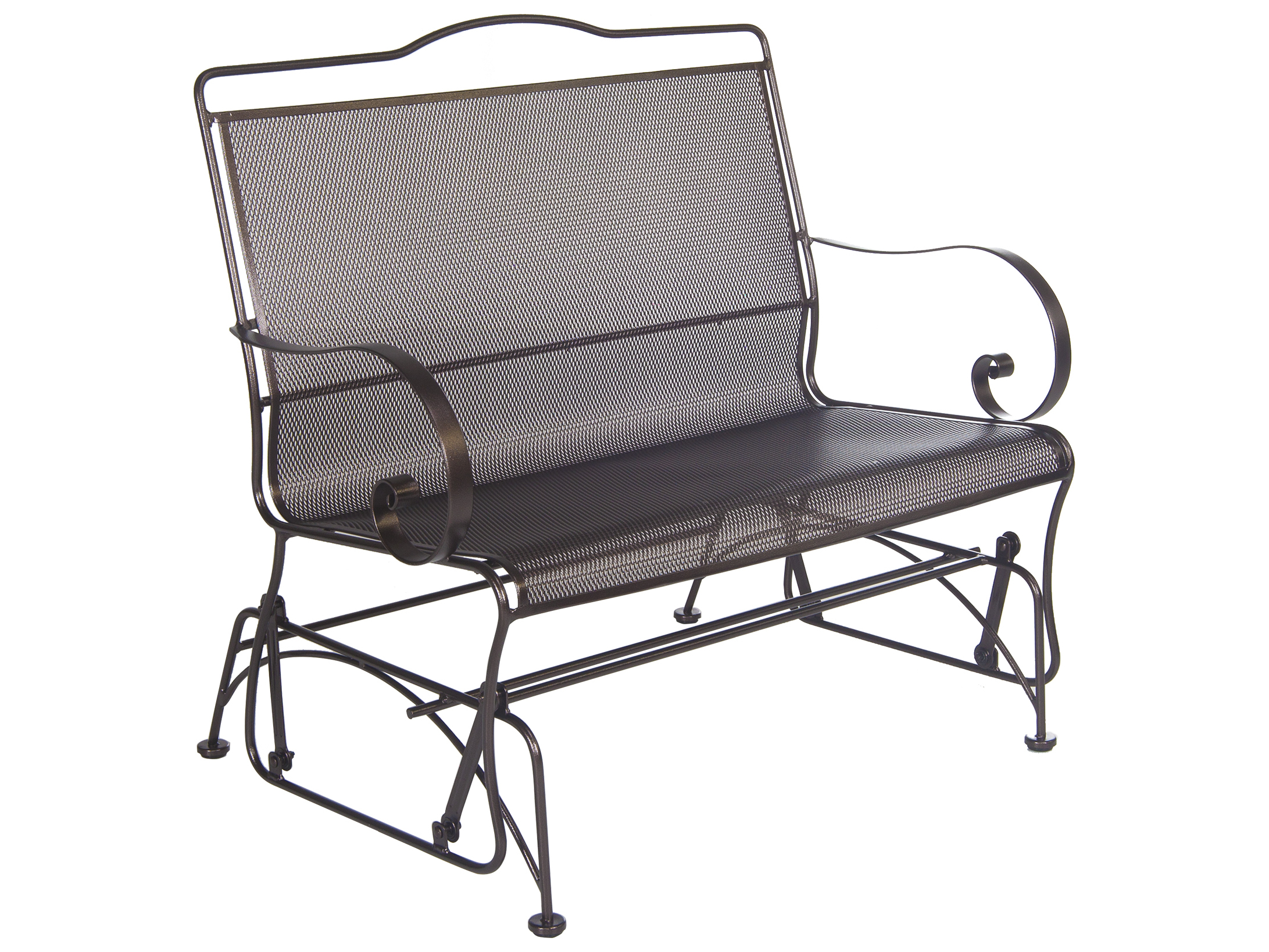 Ow Lee Avalon Wrought Iron Glider Loveseat Ow43762g